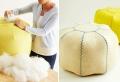 Projet DIY unique – fabriquer un pouf à l'aide de plusieurs photos et tutos faciles