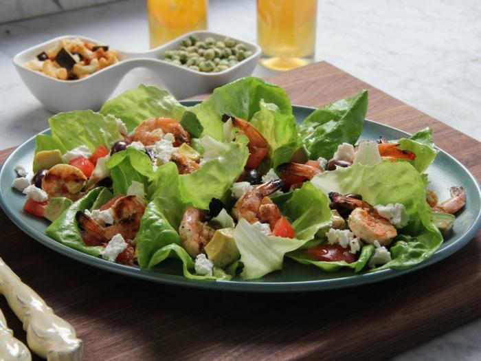 Salade composée; recette de salade ; recette salé idee