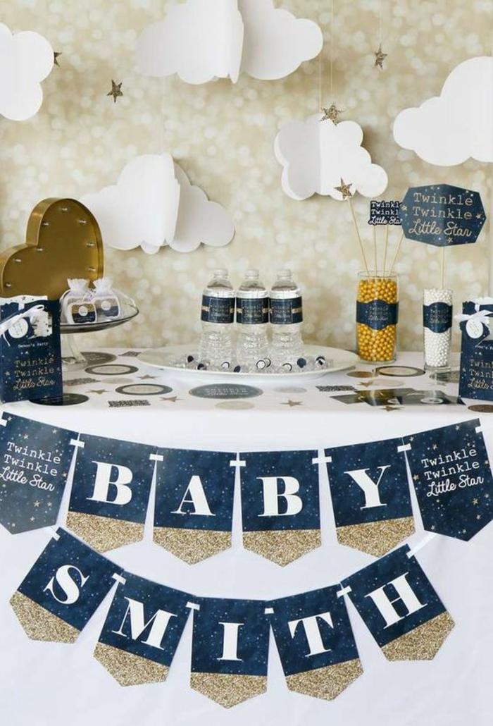 une jolie décoration baby shower, une ambiance douce et enchanteresse