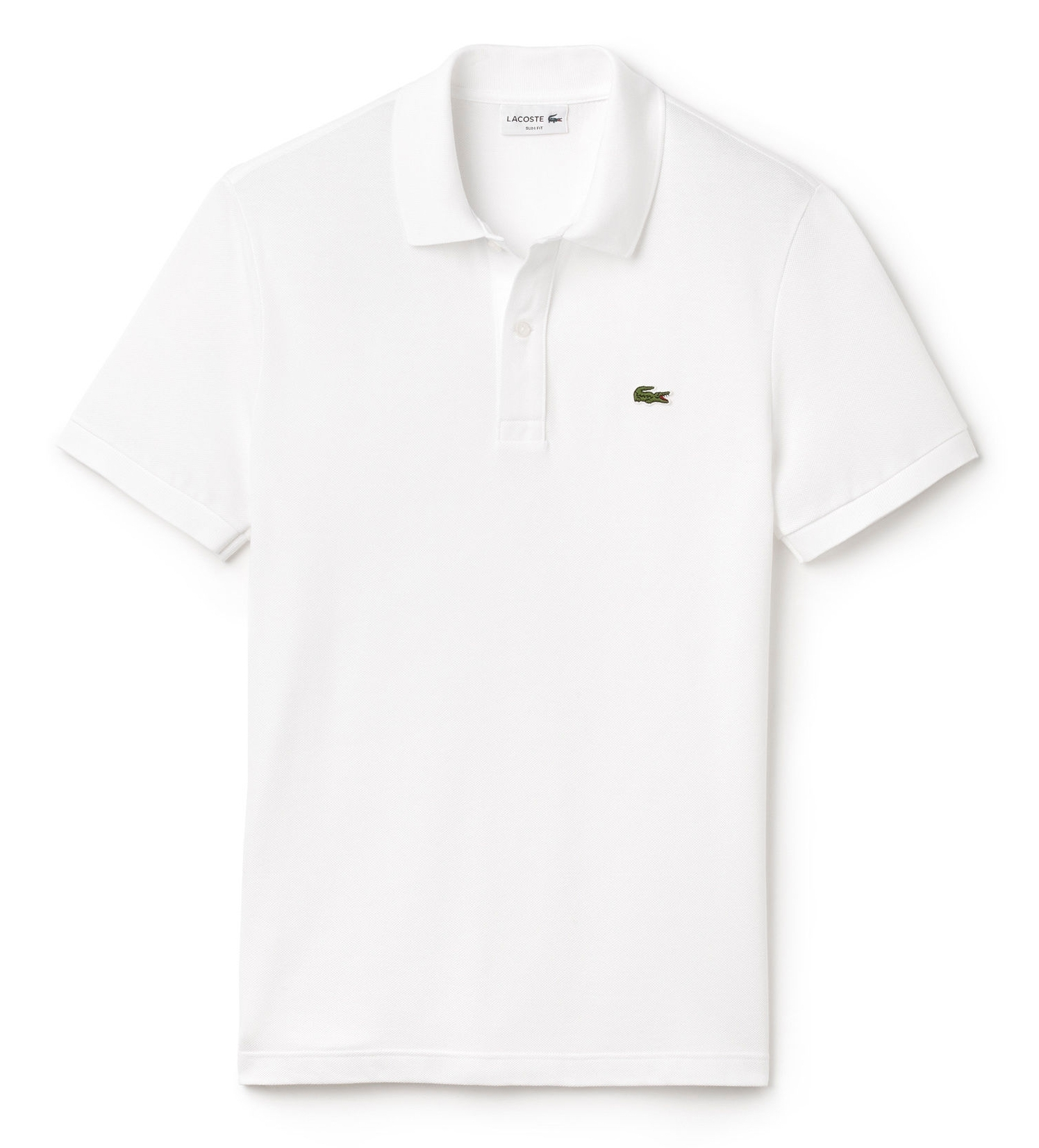 polo lacoste slim fit blanc vetements homme basique