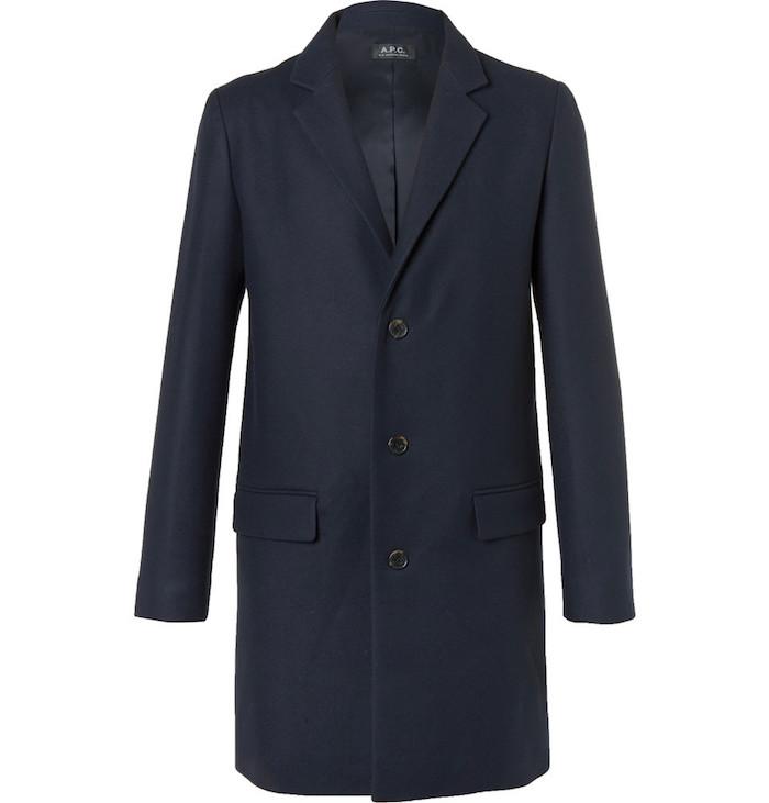 pardessus Luchino A.P.C manteau laine homme style duffle coat