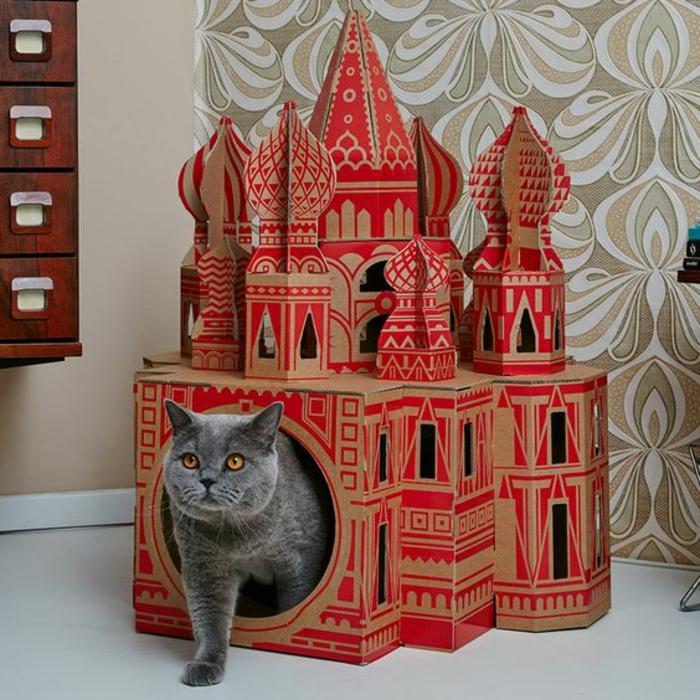 grand abri pour chat, les monuments mondiaux recréés en maison de chat