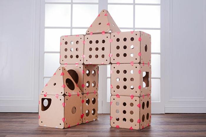abri pour chat, grand abri de chat,design cubique en carton