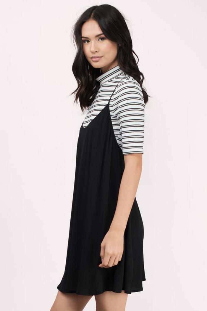 changer de style vestimentaire jeune femme petit robe noire decontracte style