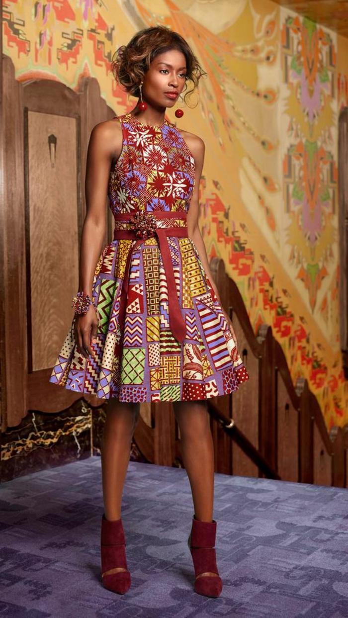 Jupe pagne model de pagne ensemble pagne 2017 couleurs-jolie-robe-chaussures-à-talon-rouges-velvet-cool