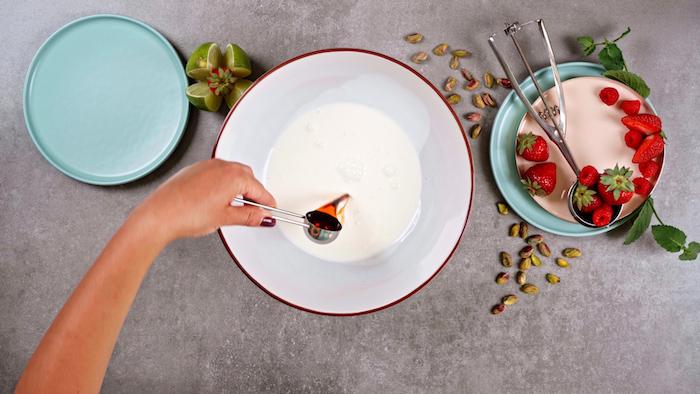 ajouter de la vanille exemple comment faire dessert parfait simple style glace maison originale