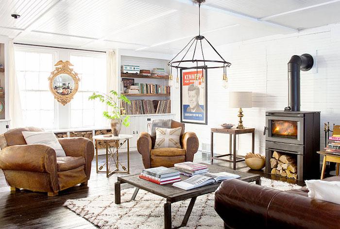 idée deco salon décoration retro vintage