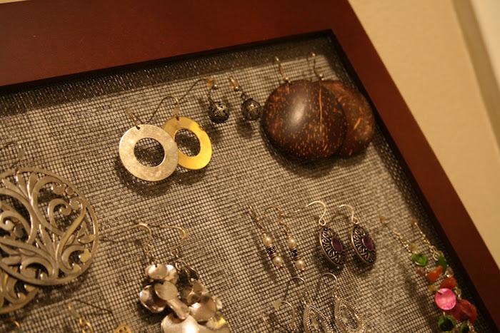fabriquer un porte bijoux fait maison pour boucle d oreille