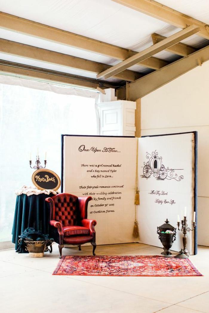 un fond photobooth à thème conte de fée