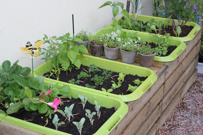 bac pour jardin plastiques pour jardinière pas cher
