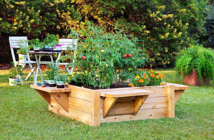 carré potager surélever jardiniere palette