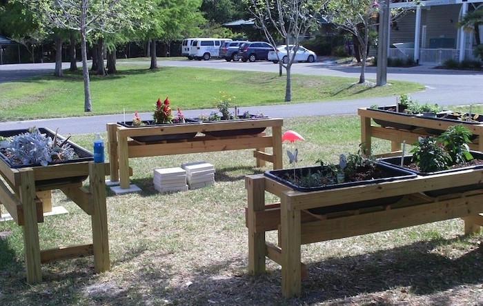 potager surélevé jardin sur pied en bois