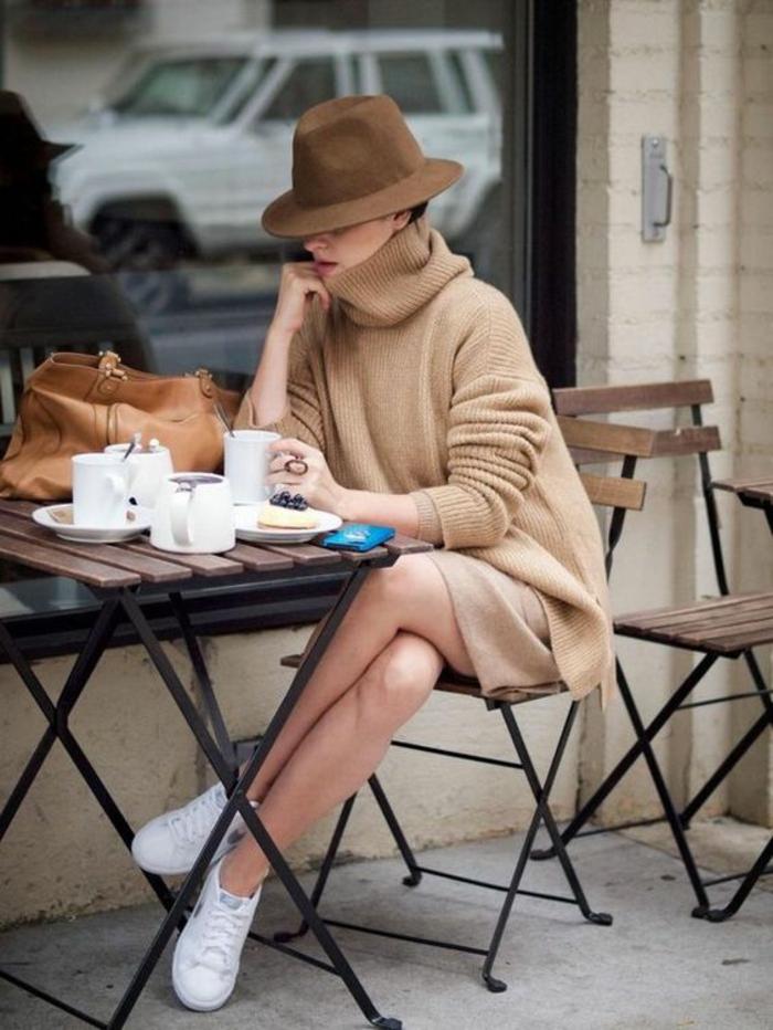 tenue stylée femme beauté café matin cool idée