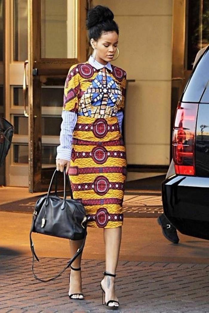 Pagne fashion modele de robe model pagne modèle jolie chemise rayé robe coloré
