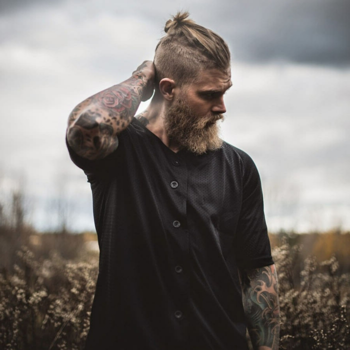 coiffure homme style viking