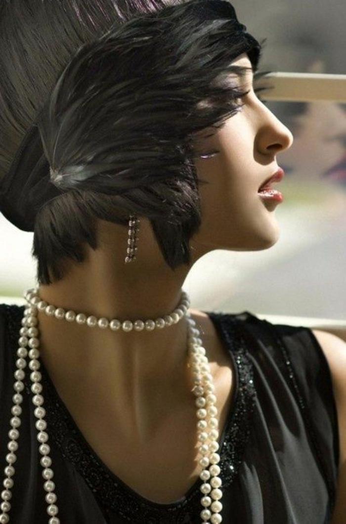 colliers perles de culture style années Belle époque glamour