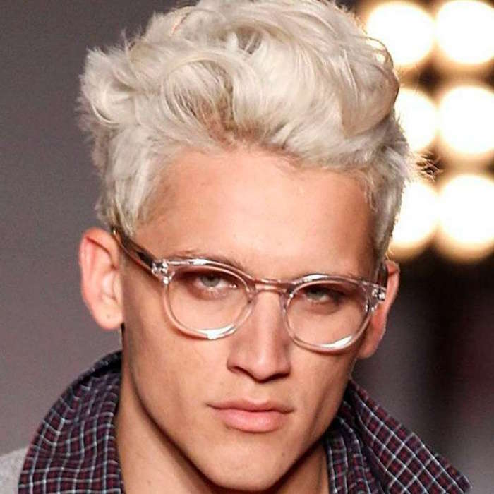 Bleached Hair And Glasses Guys