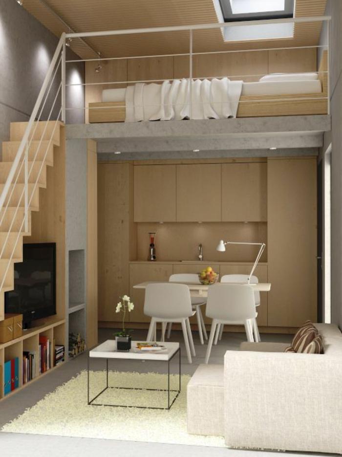 comment aménager une petite chambre multifonctionnelle avec escalier et mezzanine