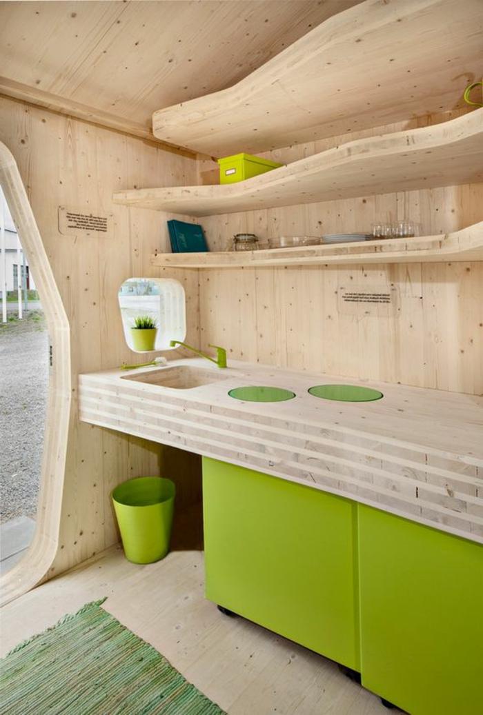 comment aménager une petite chambre, demeure pour étudiant en bois