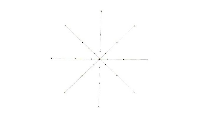comment faire une rosace, schème mandala, lignes diagonales, cercle, points noirs, faire un mandala