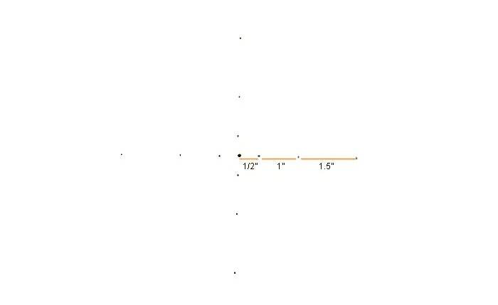 mandala facile a faire, points noirs, papier blanc, dimensions, faire un mandala