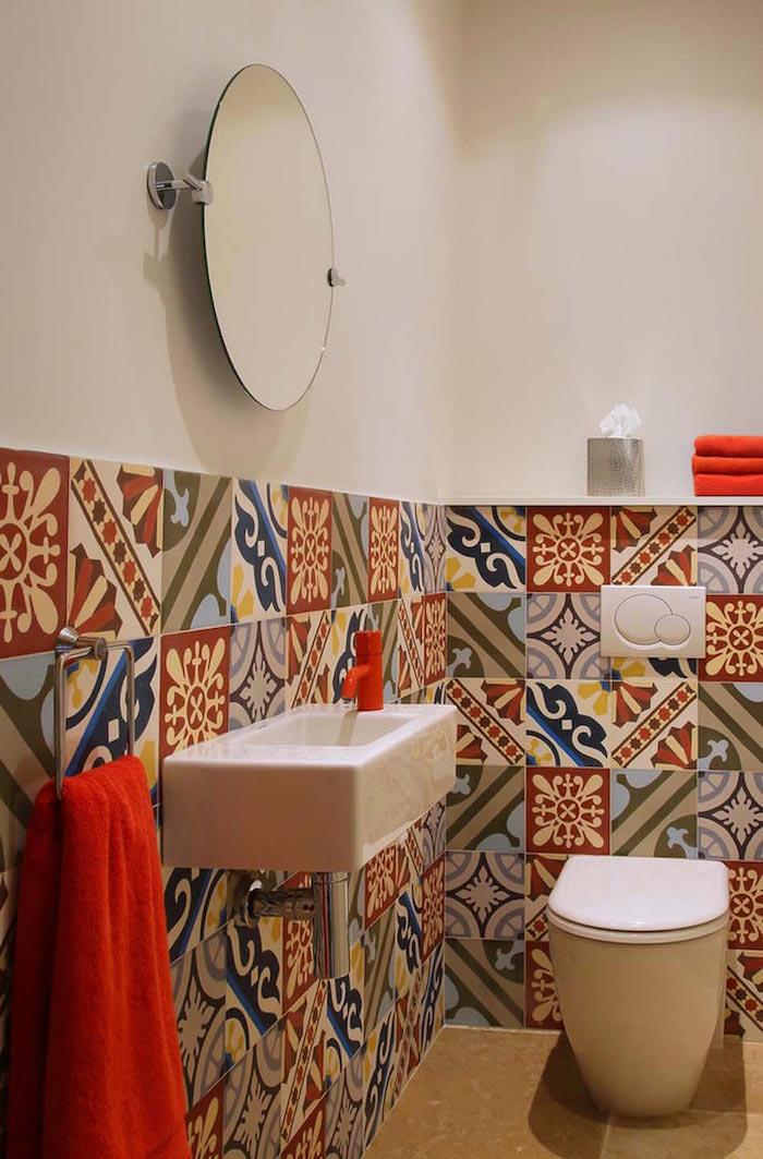 deco wc avec faience couleurs sobres