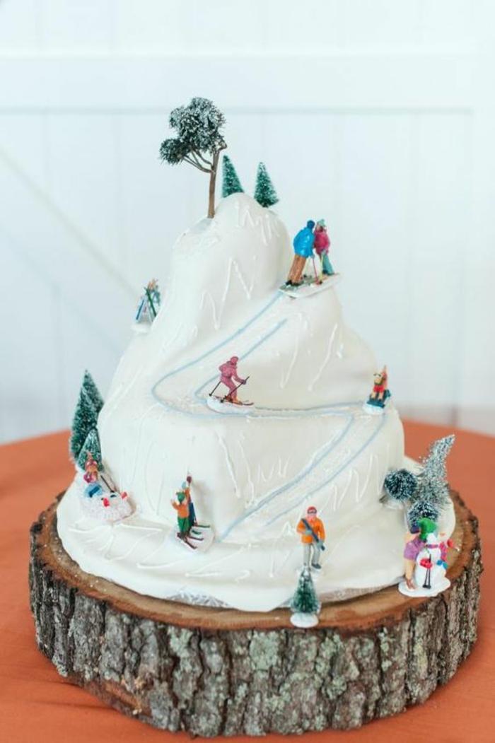 Dessert d anniversaire gateau d anniversaire original pour adulte ski