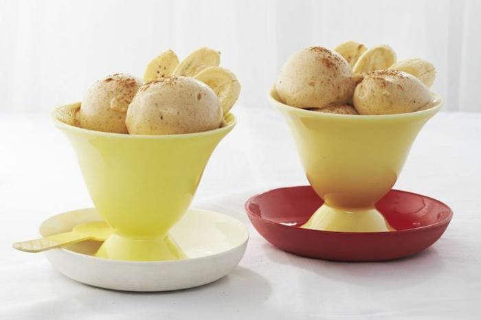 recette rapide pour faire une glace sans sorbetière, recette de glace aux bananes et à la cannelle