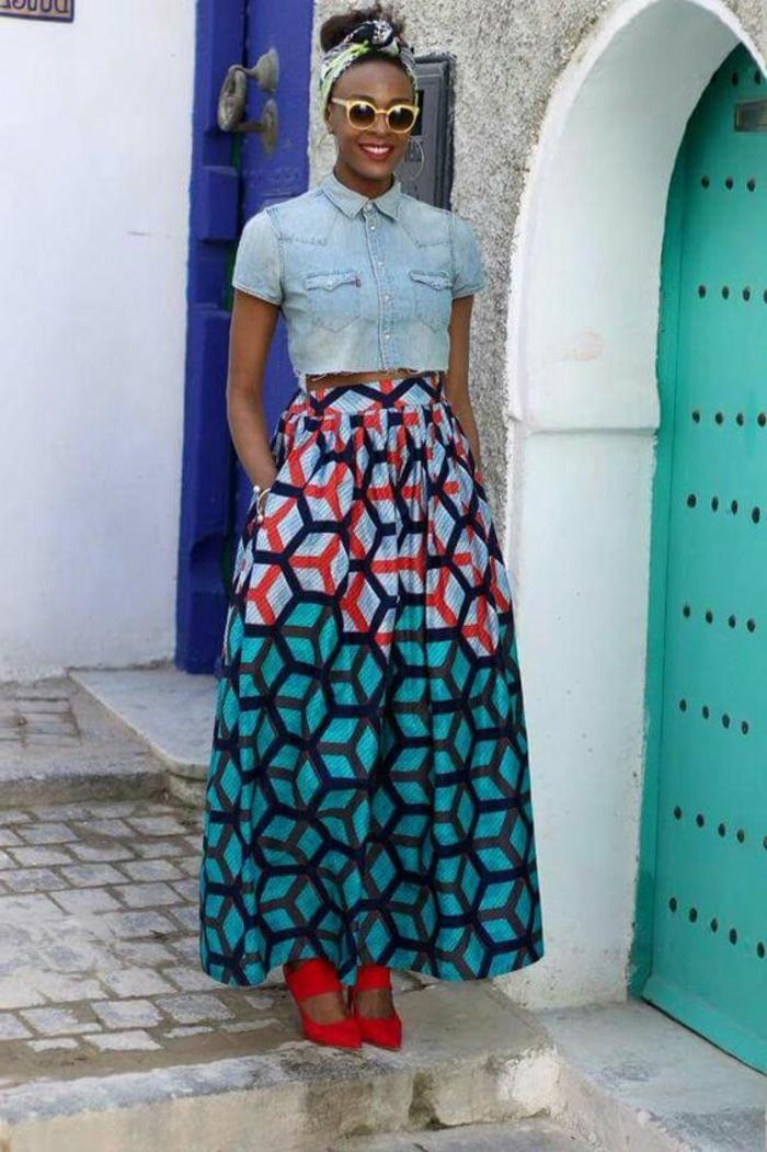 Fashion pagne modele jupe pagne tenue