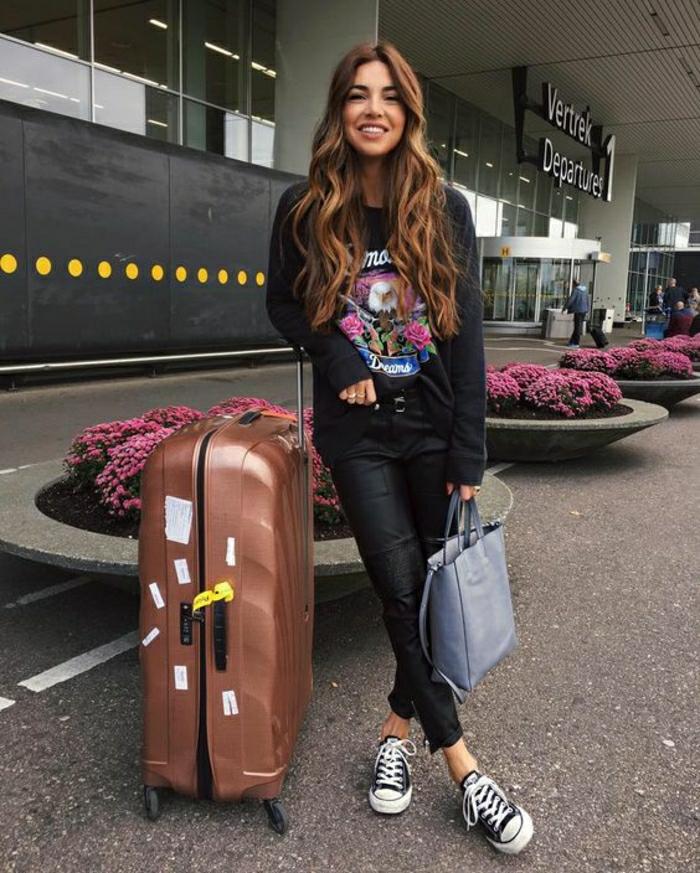 Idée comment s habiller pour prendre l avion grand valise