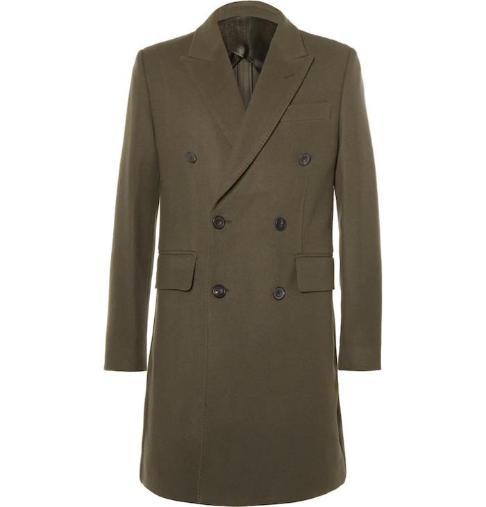 manteau pardessus en cachemire Hardy Amies style anglais duffle coat