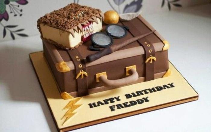 Gateau anniversaire pour homme gâteau original au chocolat Harry Potter
