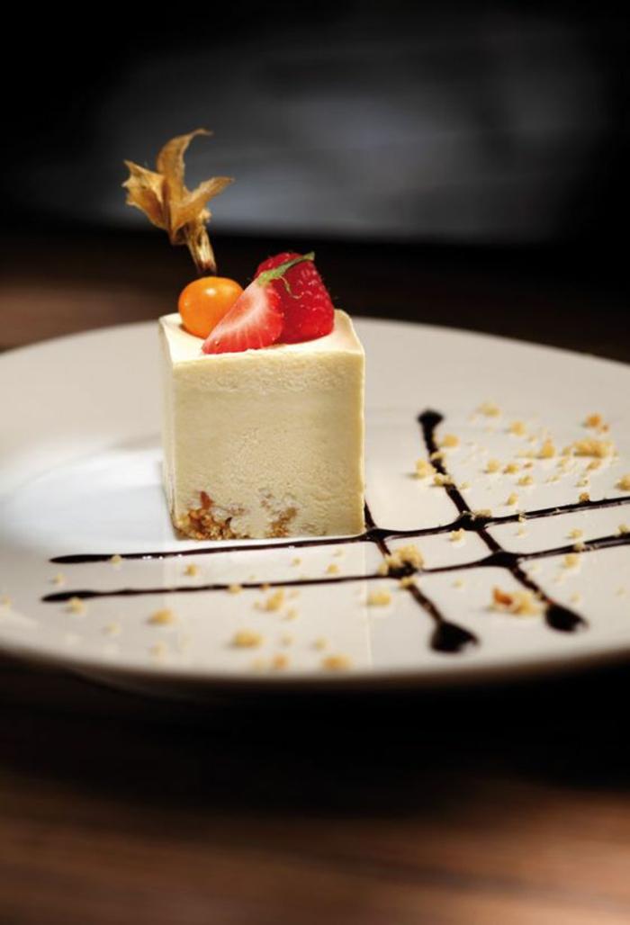Superbe presentation assiette dessert idée diy inspiration qarré
