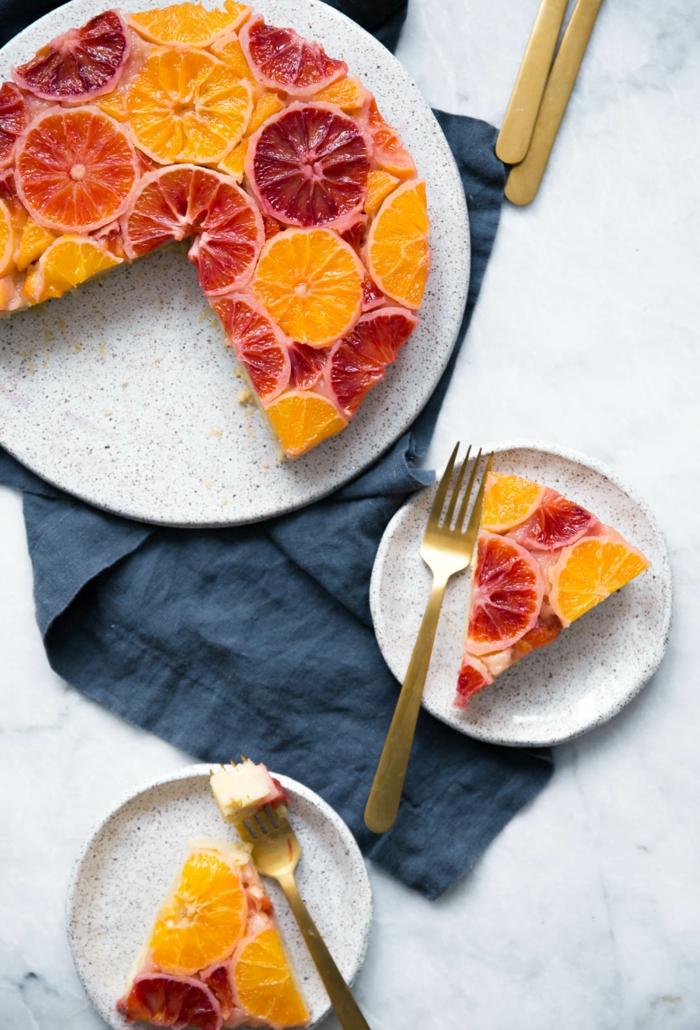 Superbe presentation assiette dessert idée diy inspiration gateau grapefruit