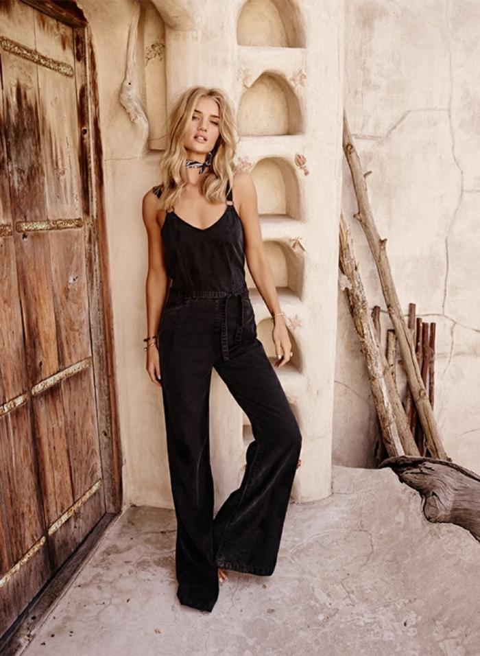 idée de style vestimentaire femme magnifique salopette pantalon long