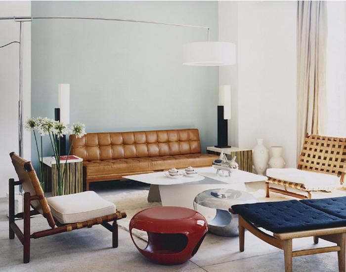 idee deco sallon retro avec interieur ambiance vintage