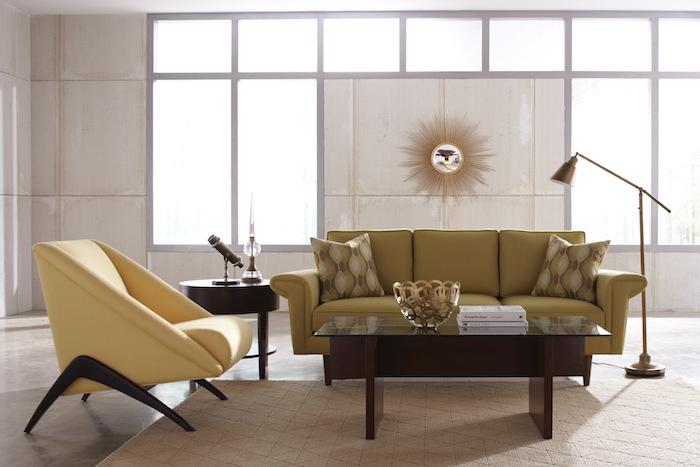 vintage style salon idée déco séjour design style suedois