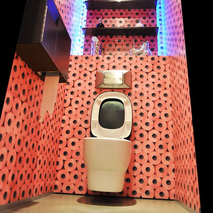deco wc original couleur tapisserie rouleaux moderne