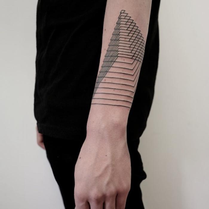 rosace tatouage abstrait ligne tattoo geometrie homme