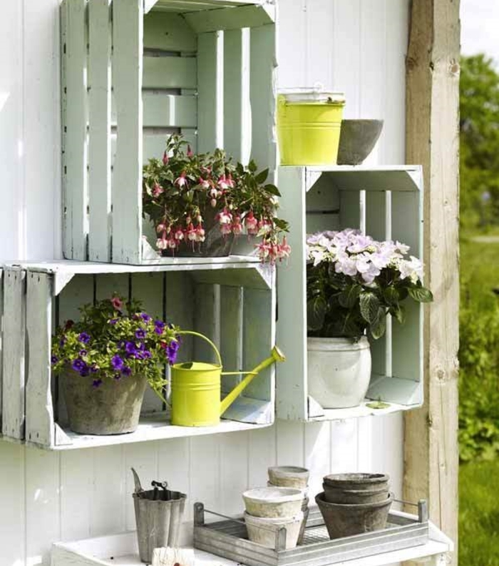 awesome etagere murale jardin pictures