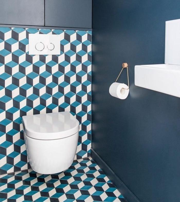 toilettes design déco toilette cubes 3d sobre wc original