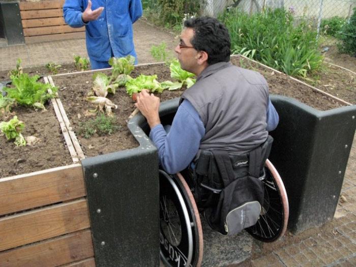 carré potager surélever pour fauteuil roulant jardiner assis