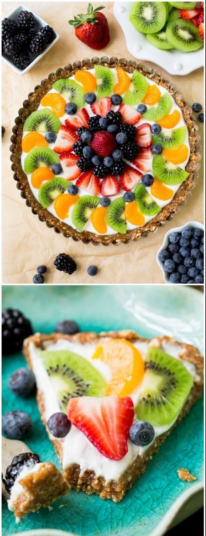 Beau gâteau aux fruits rouges manger bouger bon