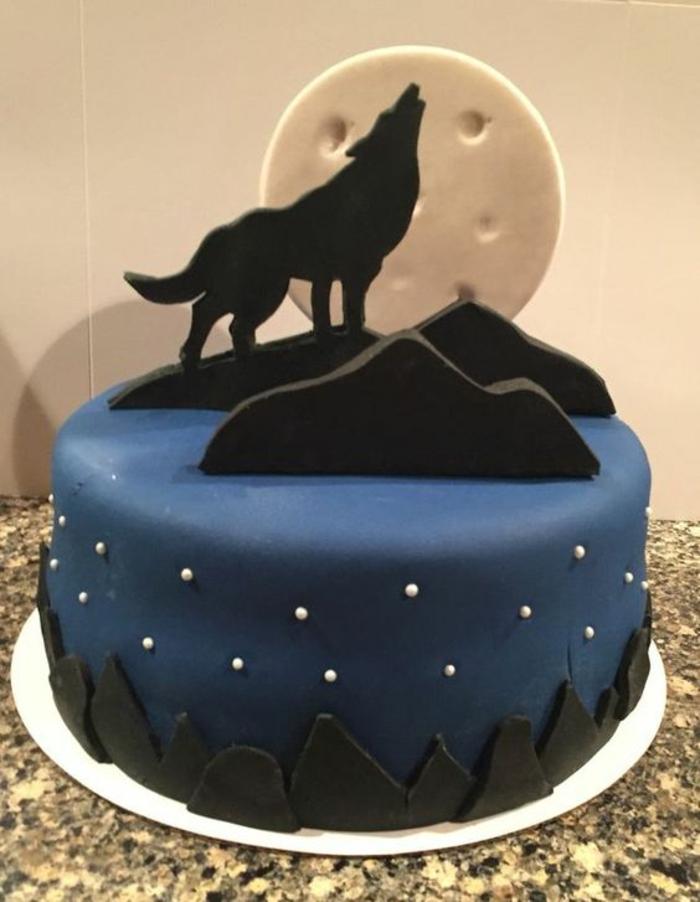 Superbe gateau anniversaire homme 30 ans gateau anni loup