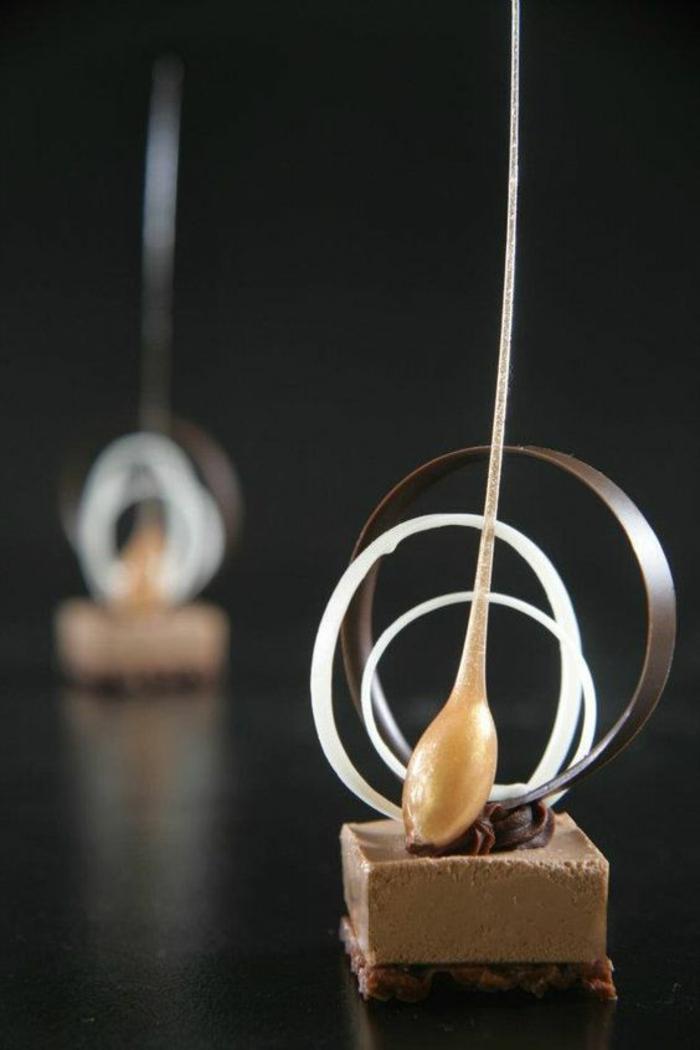 Formidable dessert individuel facile idée préparationc chocolat au caramel