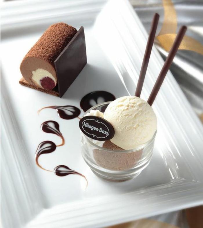 Un dessert gastronomique facile déco idée art assiette