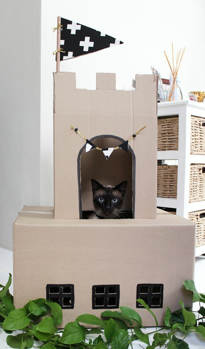 Tuto Niche Pour Chat ▷1001+ designs captivants de maison de chat en carton