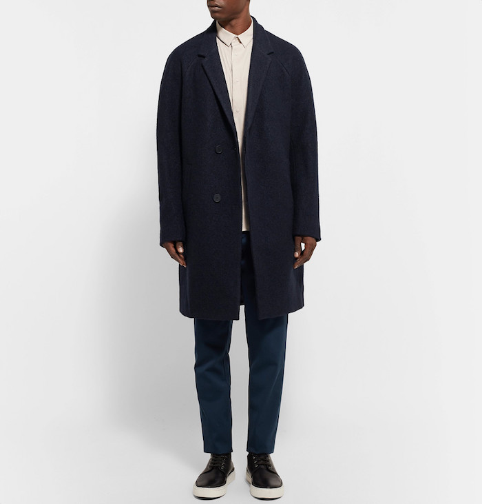manteau long homme hiver mi saison vetement élégant homme laine cos