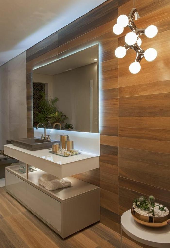 1001 id es pour un miroir salle de bain lumineux les for Lumiere led salle de bain