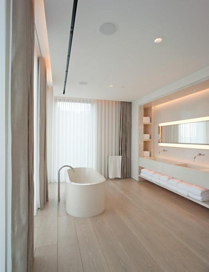 miroirs salle de bain lumineux espace grand avec deux grands lavabos